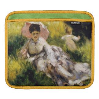 ルノアール著パラソルを持つ女性 iPadスリーブ