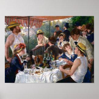 ルノアール著船遊びのパーティの昼食会 ポスター