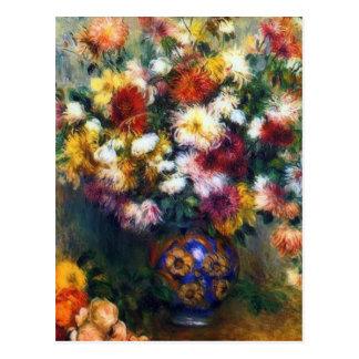 ルノアール著菊のファインアートのつぼ ポストカード