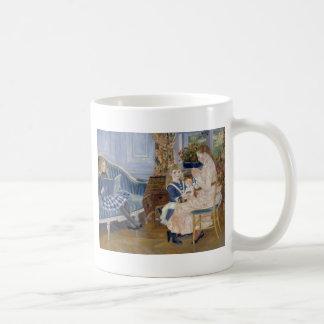 ルノアール著Wargemont 1884年の子供の午後 コーヒーマグカップ