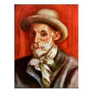 ルノアール-ピエールルノアール著自画像1910年 ポストカード