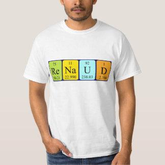 ルノーの周期表の名前のワイシャツ Tシャツ