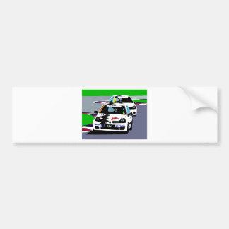 ルノーClioのレースカー バンパーステッカー