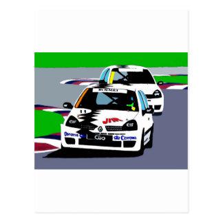 ルノーClioのレースカー ポストカード