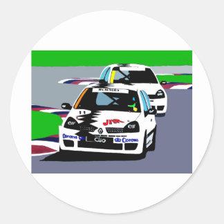 ルノーClioのレースカー ラウンドシール