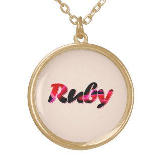 ルビーのための金ネックレス ゴールドプレートネックレス