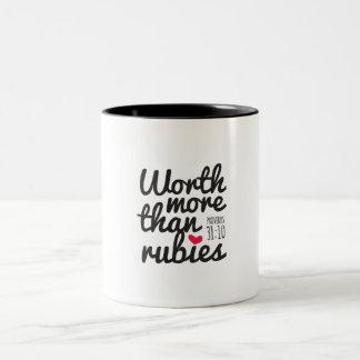 ルビーのマグより多くの価値を持って ツートーンマグカップ
