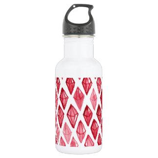 ルビーの抽象美術のデザインの上の赤いルビー色のダイヤモンド ウォーターボトル