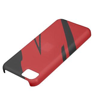 ルビー色のガーネットおよび黒檀のiPhone 5の場合 iPhone5Cケース