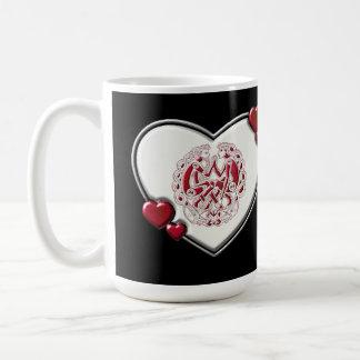 ルビー色のケルト族の恋人のハートのマグ コーヒーマグカップ