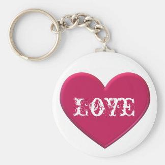 ルビー色のハート愛Keychain キーホルダー