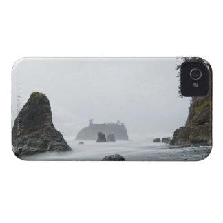 ルビー色のビーチの波の長い露出、 Case-Mate iPhone 4 ケース