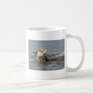 ルビー色のビーチのPish氏 コーヒーマグカップ