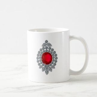 ルビー色のブローチ コーヒーマグカップ