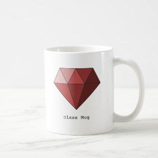 ルビー色のマグ コーヒーマグカップ