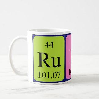 ルビー色の周期表の名前のマグ コーヒーマグカップ