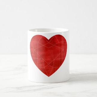ルビー色の宝石用原石のマグ コーヒーマグカップ