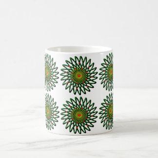 ルビー色の花のマグ コーヒーマグカップ