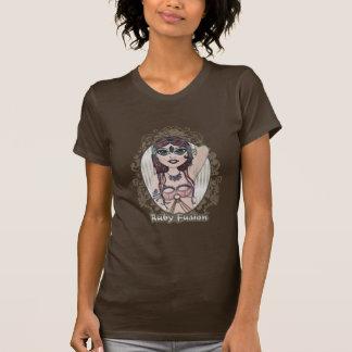 ルビー色の融合のベリーダンスのTシャツのティー Tシャツ