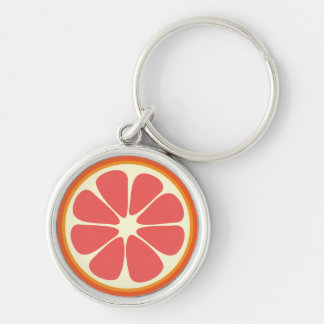 ルビー色の赤いグレープフルーツの水分が多く甘い柑橘類の切れ キーホルダー