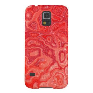 ルビー色の赤い大理石の溶岩パターン GALAXY S5 ケース
