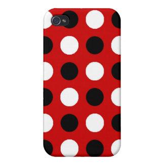 ルビー色の赤い水玉模様 iPhone 4/4Sケース