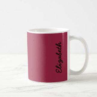 ルビー色の赤い無地 コーヒーマグカップ
