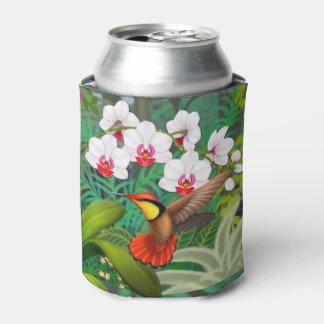 ルビー色の赤い熱帯ハチドリのクーラーボックス 缶クーラー