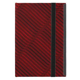 ルビー色の赤くおよび黒いパターン iPad MINI ケース
