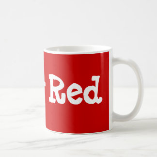 ルビー色の赤 コーヒーマグカップ