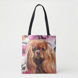 「ルビー色の」無頓着な犬の芸術のトートバック トートバッグ