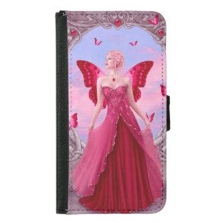 ルビー色のBirthstoneの妖精の銀河系S5のウォレットケース Galaxy S5 ウォレットケース