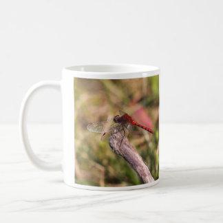 ルビー色のMeadowhawk コーヒーマグカップ