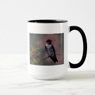 ルビー色のThroatedハチドリのマグのコップ マグカップ