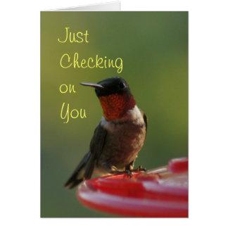 ルビー色のThroatedハチドリ-カスタマイズ カード