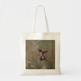 ルビー色のthroatedハチドリ トートバッグ