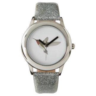 ルビー色のThroatedハチドリ 腕時計