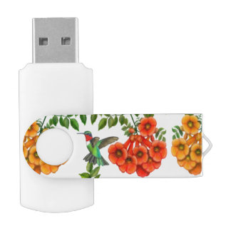 ルビー色のThroatedハチドリUSB 32GBのフラッシュドライブ USBフラッシュドライブ