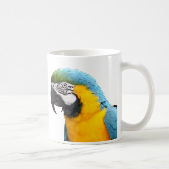 ルリコンゴウインコ コーヒーマグカップ