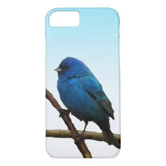 ルリノジコの鳥のiPhone 7の場合 iPhone 8/7ケース