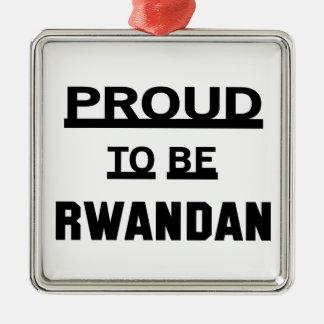 ルワンダがあること誇りを持った メタルオーナメント