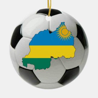 ルワンダのフットボールのサッカーのオーナメント セラミックオーナメント