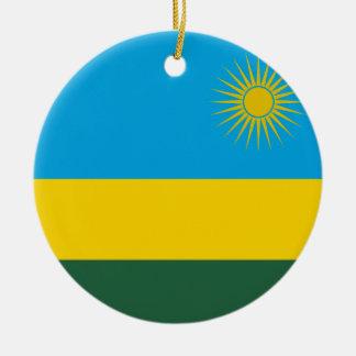 ルワンダの国民の世界の旗 セラミックオーナメント