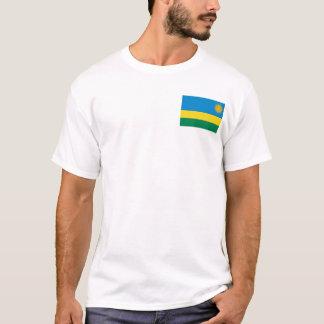 ルワンダの旗および地図のTシャツ Tシャツ