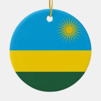 ルワンダの旗のオーナメント セラミックオーナメント