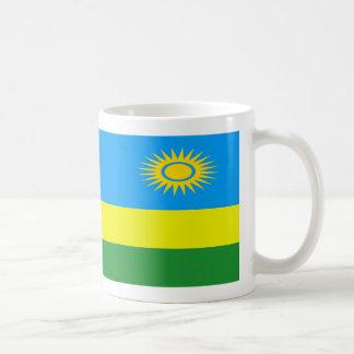 ルワンダの旗のコーヒー・マグ コーヒーマグカップ