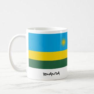 ルワンダの旗のマグ コーヒーマグカップ