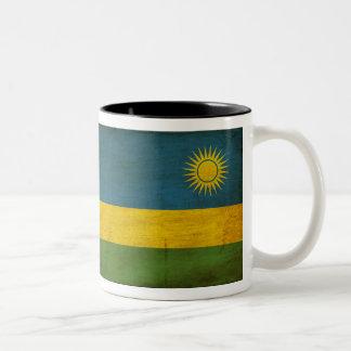 ルワンダの旗のマグ ツートーンマグカップ