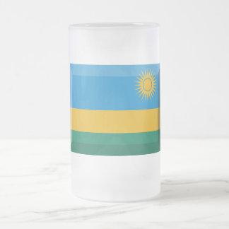 ルワンダの旗の宝石 フロストグラスビールジョッキ