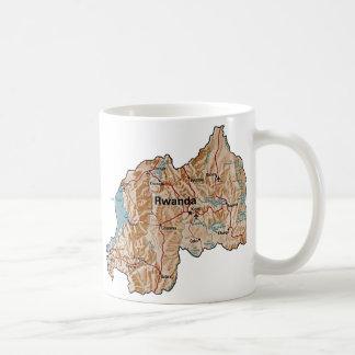 ルワンダの旗の~の地図のマグ コーヒーマグカップ